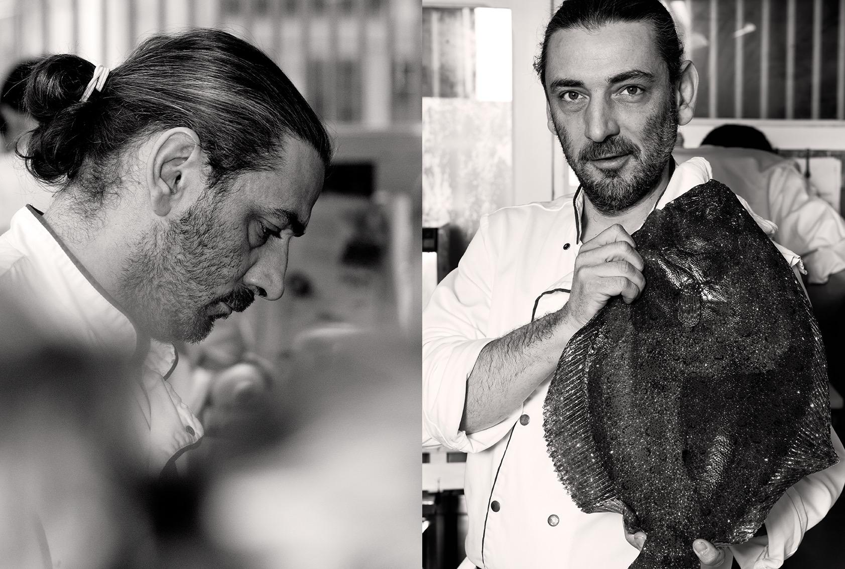 Portrait du chef et ami, Jacky Ribault, Restaurant Qui plume la lune,1 etoile au guide Michelin, Paris ©Alban Couturier