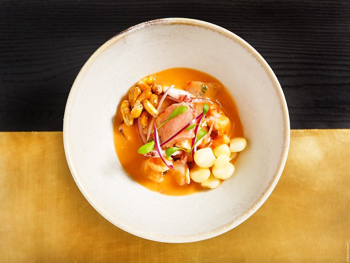 cebiche-mixto, restaurant Manko Paris, ©Alban Couturier