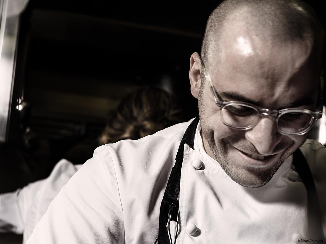 Portrait de Daniel Baratier, chef Propriétaire,Restaurant Les deserteurs, 46 rue Trousseau, Paris 11