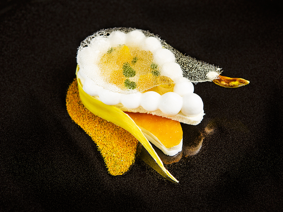 Dessert Poire, façon Julien Roucheteau ©Alban Couturier