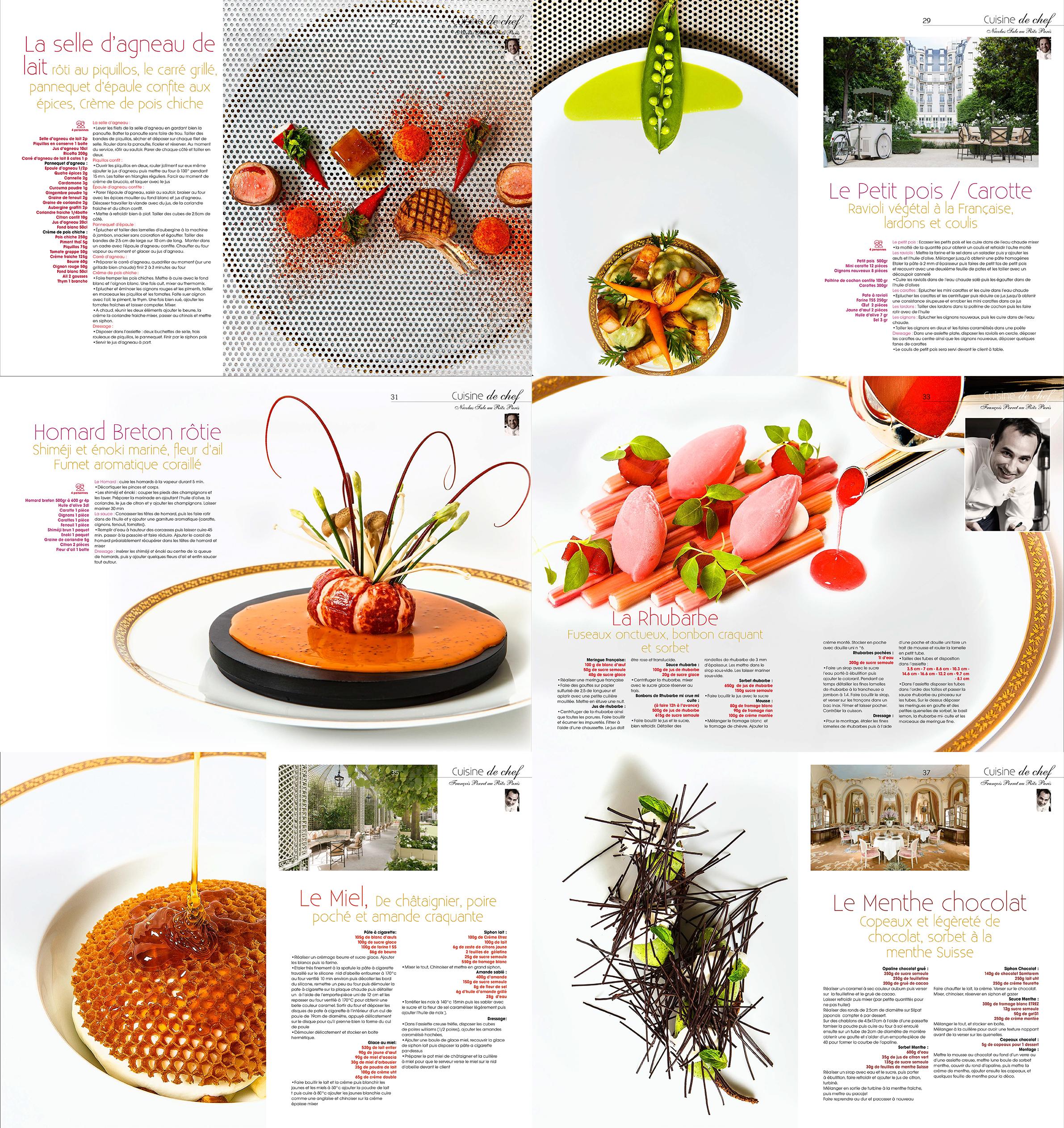 magazine cuisine A&D, Ritz Paris, Nicolas Sale, Francois Perret, recettes, ©Alban Couturier