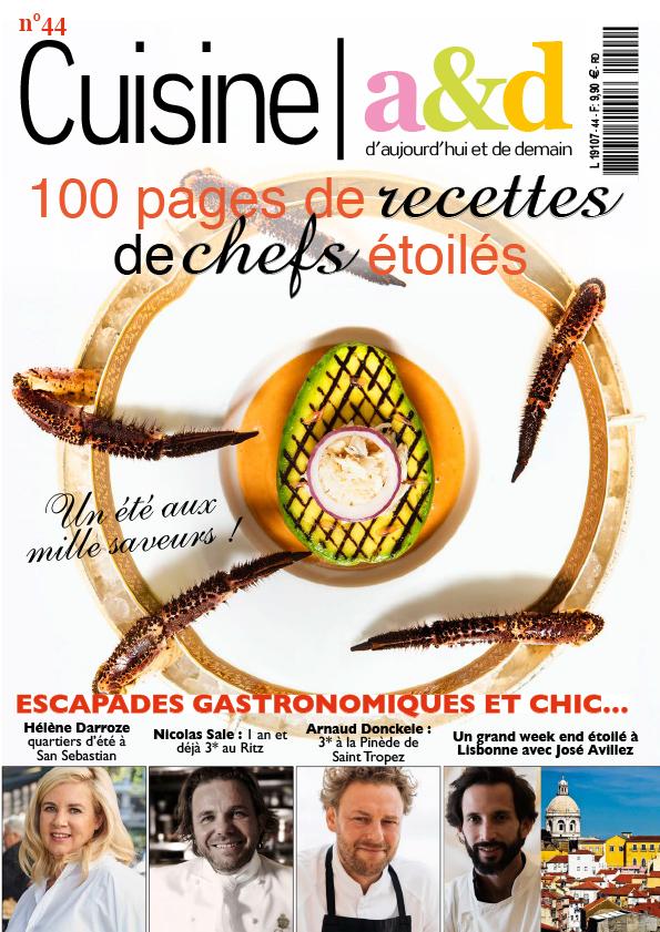 couverture juillet 2017 Cuisine A&D, Avocat-tourteau, recette du chef executif Nicolas Sale, Ritz Paris, ©Alban Couturier