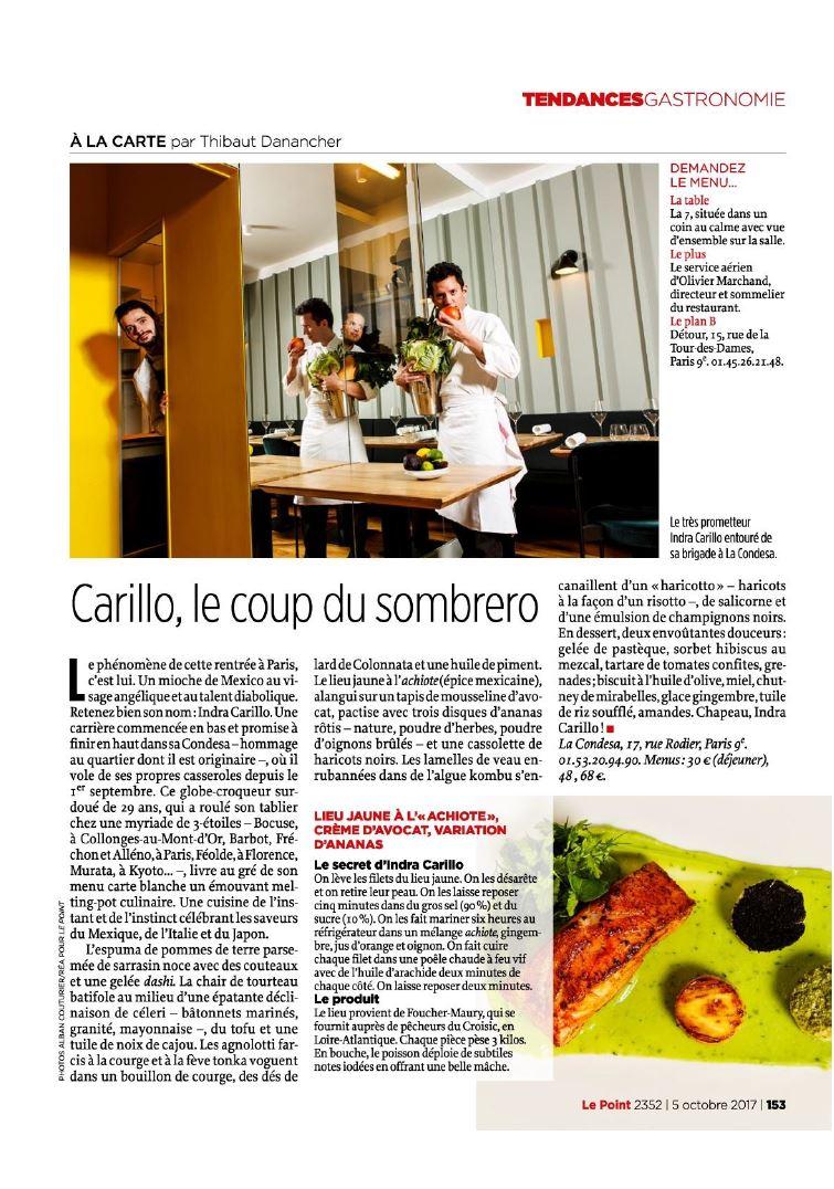 La Condesa, 17 rue rodier, Paris. Image portrait de chef pour le magazine Le Point. chef Indra Carillo ©Alban Couturier