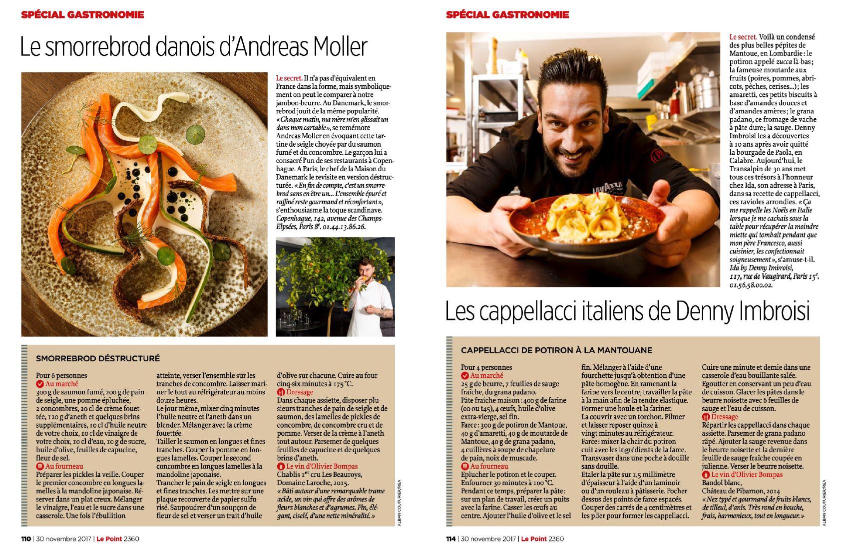 Special Gastronomie, Magazine Le Point, La maison du Danemark, Denny ImBroisi, ©Alban Couturier