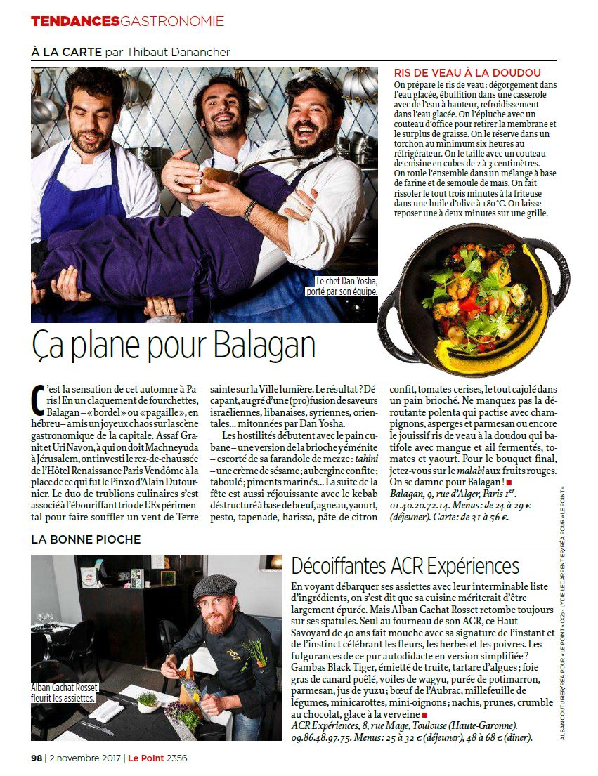 Magazine Le Point, restaurant Balagan, Paris 2©alban Couturier