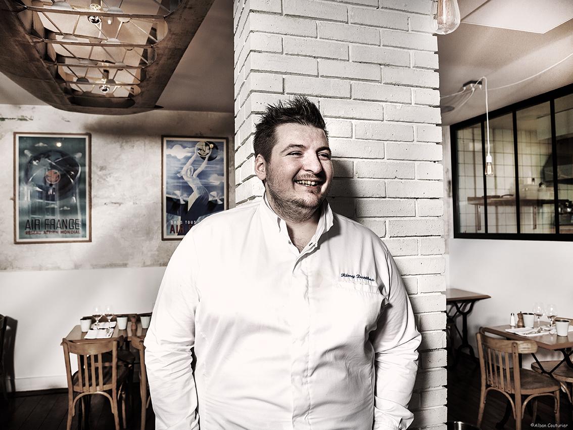 Portrait pour le magazine Le Point, Remy Danthez, chef restaurant les Petits Princes, Suresnes ©Alban Couturier