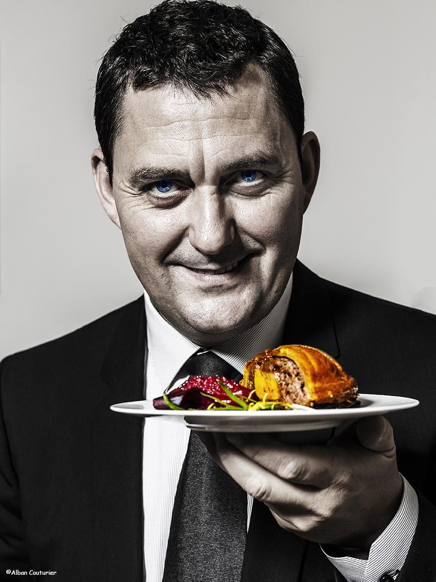 Portrait du directeur du restaurant, Frederic Pedrono, la Scene Theleme, Paris 1 etoile au guide Michelin, ©Alban Couturier
