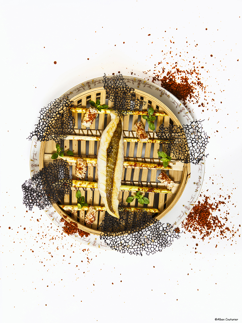 Filet de saint Pierre au sate, creation culinaire du chef et ami Nicolas Sale, chef executif du Ritz Paris, 2 etoiles au guide Michelin, Paris, ©Alban Couturier