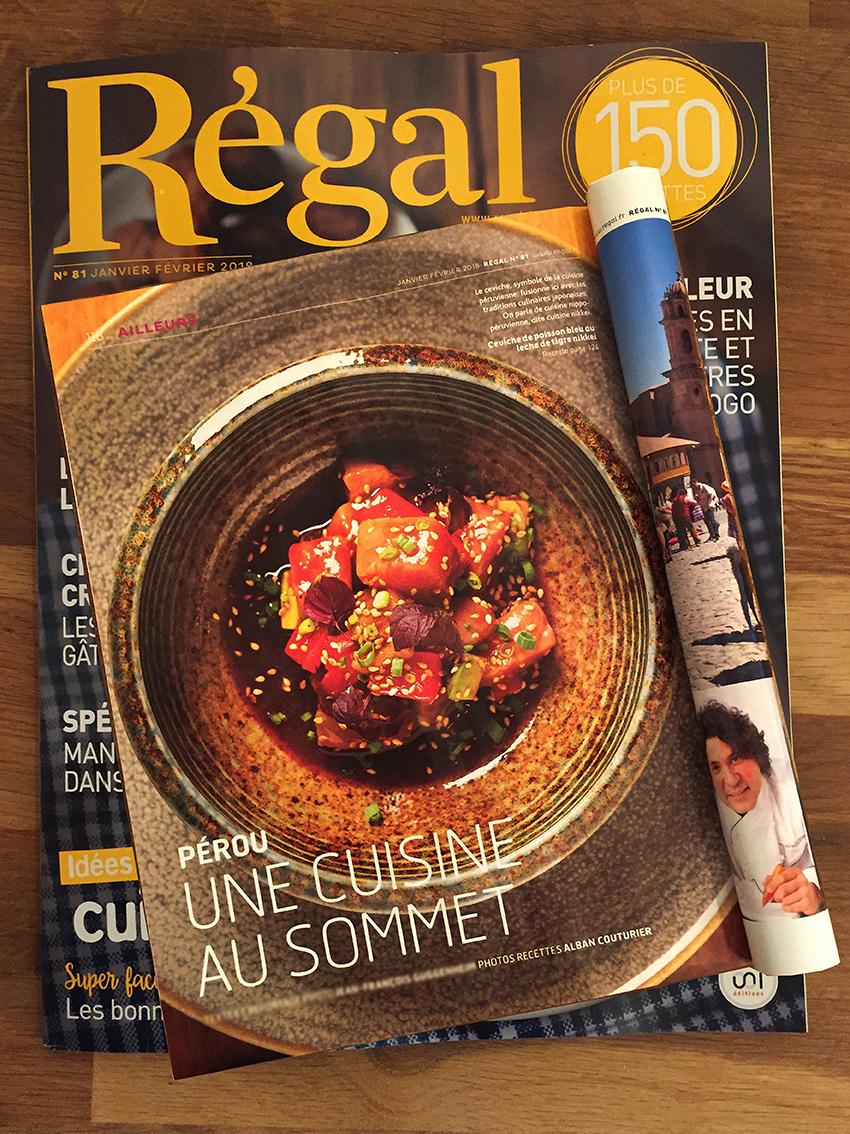 Regal, bi mensuel, janvier fevrier 2018, Manko, cuisine Perou, ©Alban Couturier