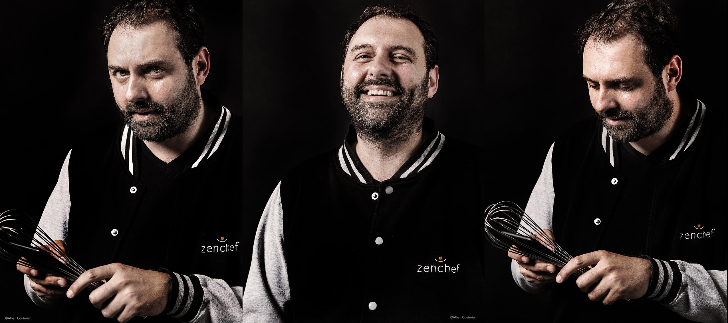Portrait de Thomas Zeitoun, co-fondateur de l'entite ZENCHEF, et Ami !@Alban Couturier