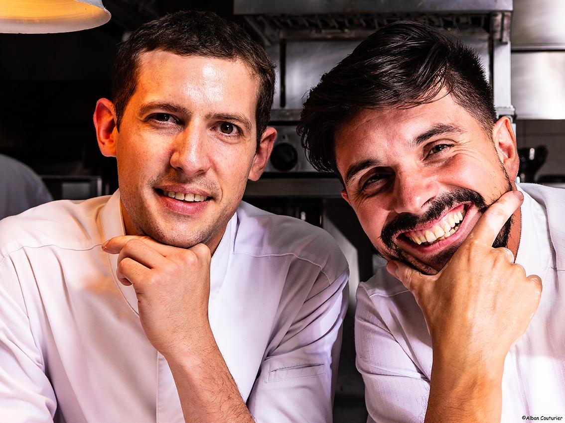 Double portraits de Sebastien Giroud et Hugo Correia, Chef Executif et Chef Patissier, Complicite et Transmission @ Alban Couturier