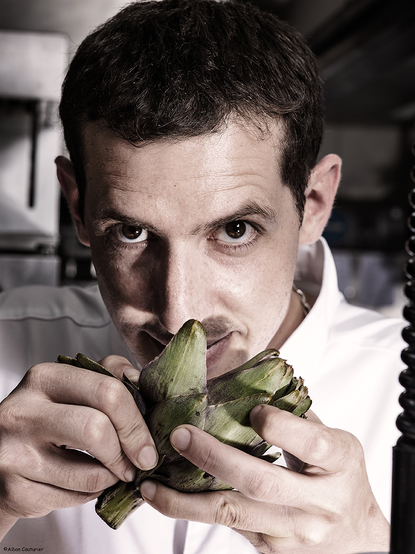 Portrait du chef et ami Sebastien Giroud, chef du restaurant Monsieur, au sein de l Hotel du Lancaster, Paris 8, ©Alban Couturier