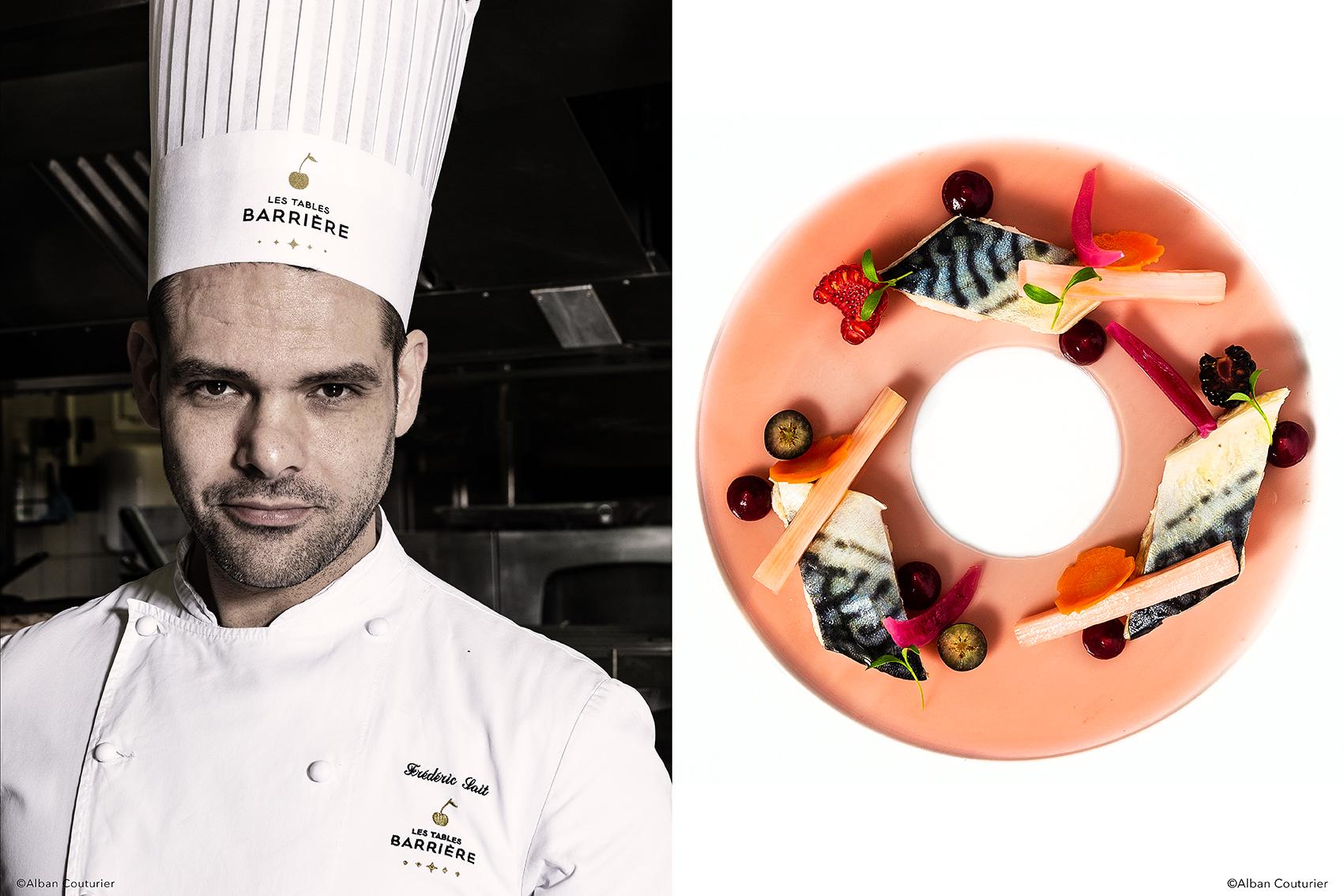 Portrait de Frederic Sait, Chef des Cuisines, Pole Hotelier, Enghien les Bains, Groupe Barriere, recette Maquereau et Pickles, ©Alban Couturier