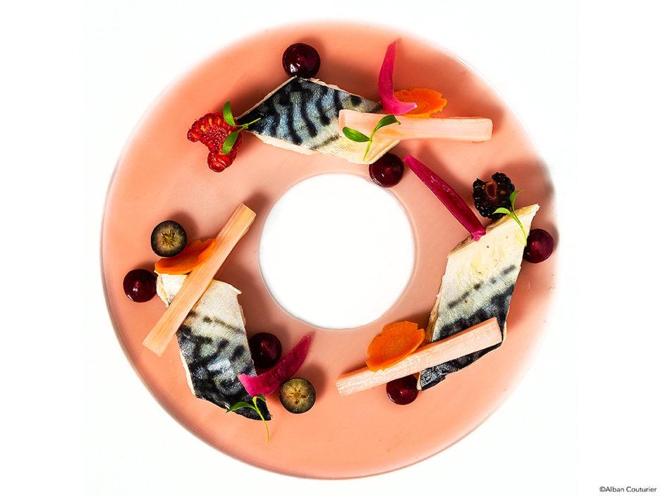 Maquereau et Pickles, recette gourmande du chef et ami , frederic SAIT, chef executif du Fouquet's Enghien les Bains ©Alban Couturier