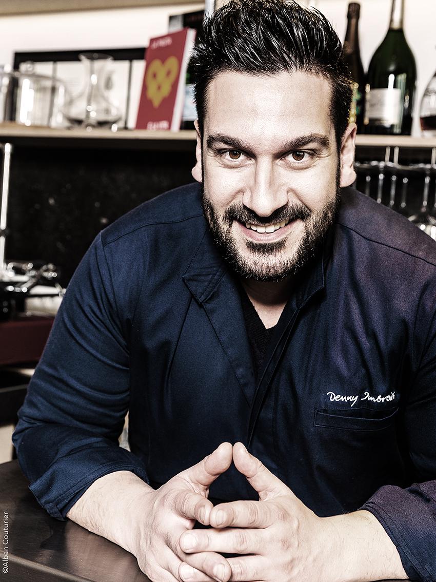 Portrait du chef et ami Denny Imbrosi, restaurant Ida Paris ©Alban Couturier