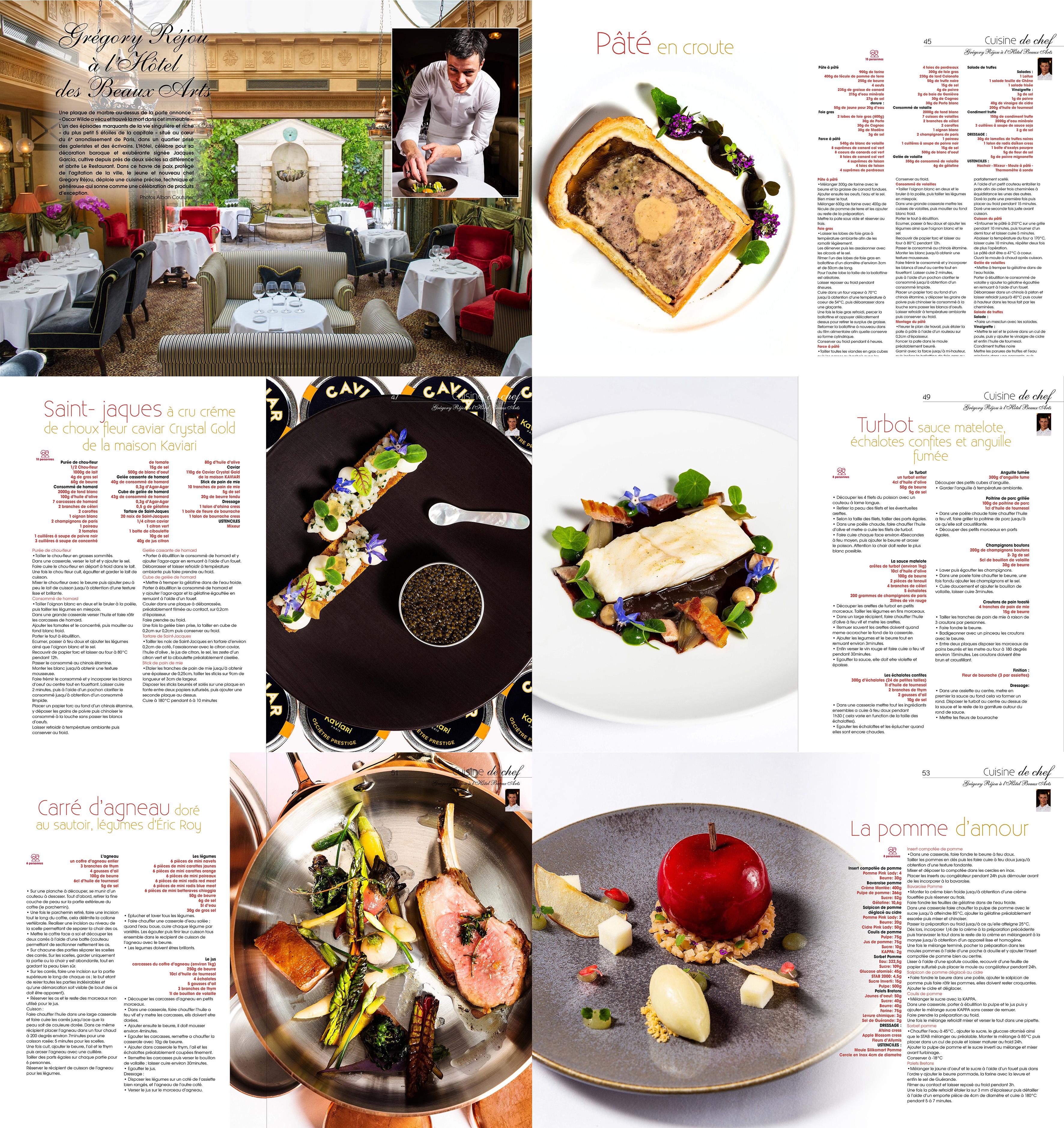 Cuisine A&D mars 2019, Gregry Rejou, chef executif, Hotel, rue des beaux arts, Paris , ©aAlban Couturier