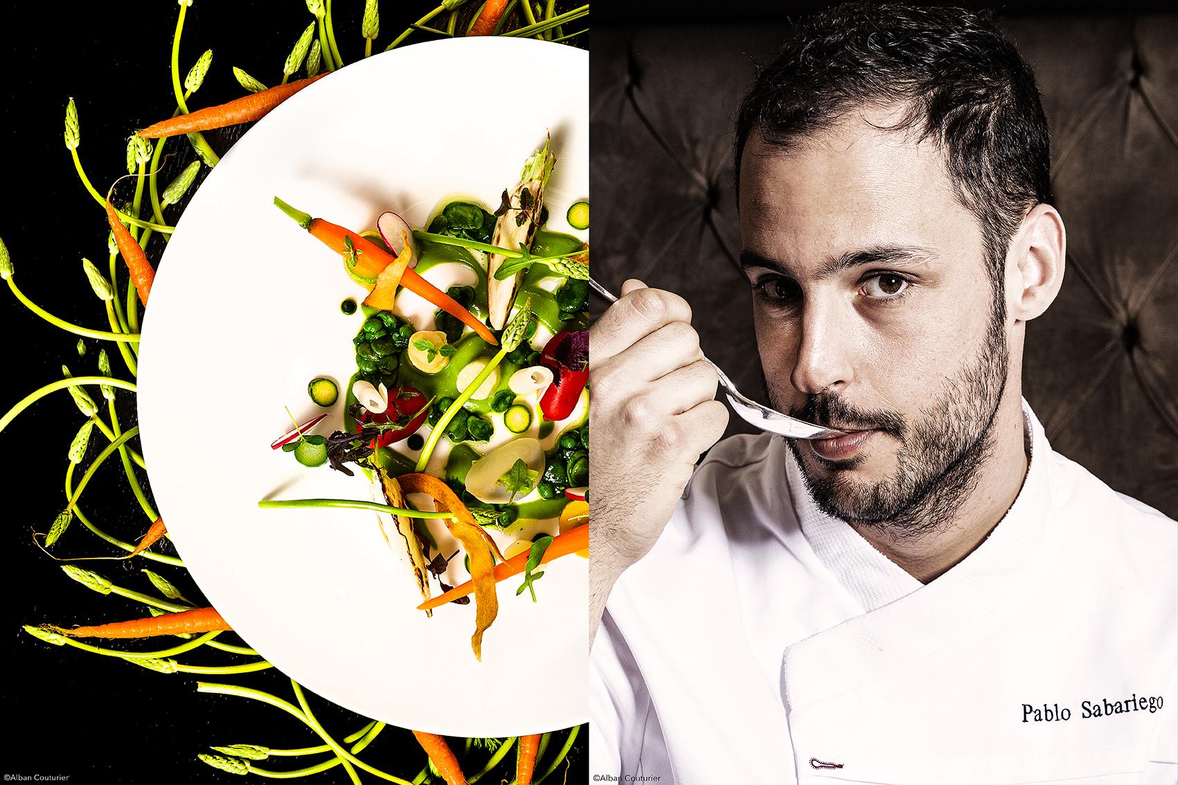 Portrait et recette, chef Pablo Sabariego, Hotel Castille, restaurant Assagio, Paris ©Alban Couturier