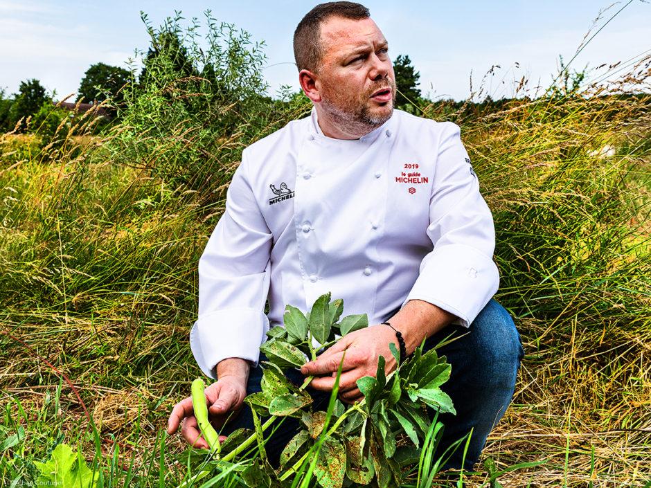 Portrait, chef et ami Gaetan Evrard, 1 etoile au guide Michelin, restaurant l Evidence, Montbazon ©Alban Couturier