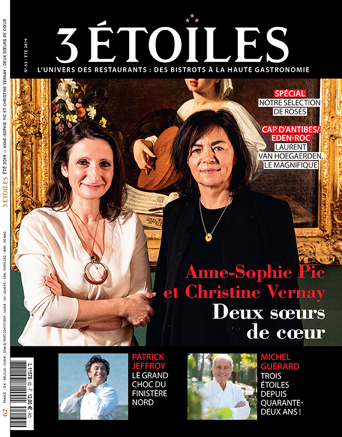 Double Portrait Couverture magazine 3 Etoiles, Ete 2019, Anne -Sophie Pic, Christine Vernay©Alban Couturier