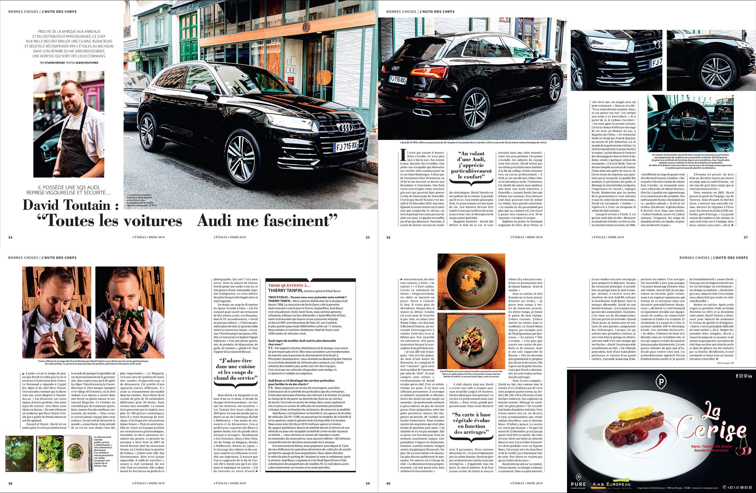David Toutain, Audi Q5 Hybride, sujet 3 etoiles, ©Alban Couturier