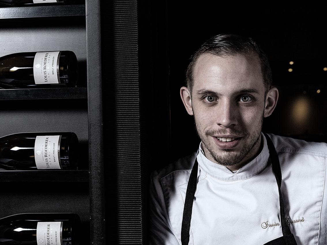 Portrait du Chef et Ami Irwin Durand, Chef executif du restaurant Le Chiberta, 1 etoile au Guide rouge ©Alban Couturier