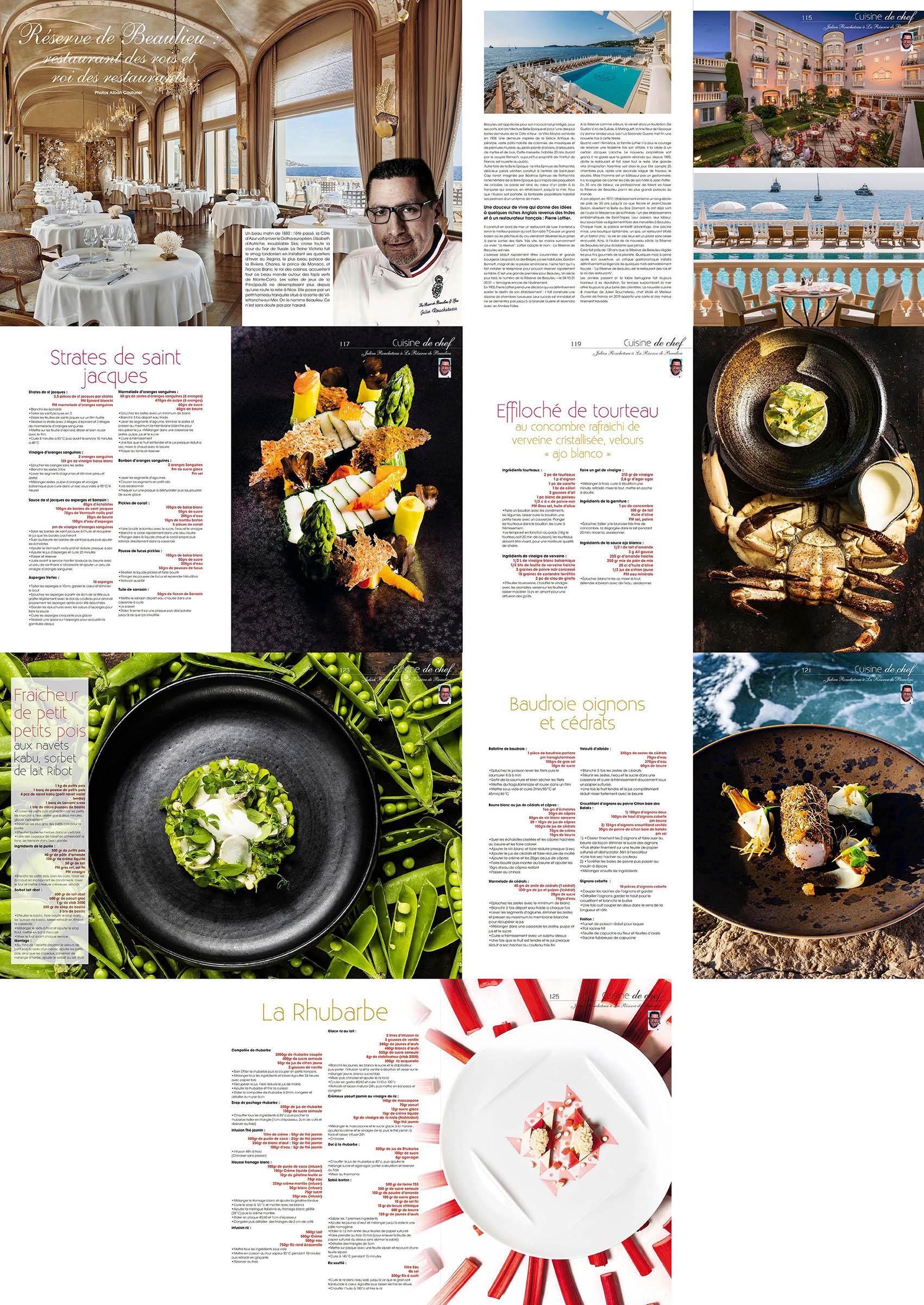 Magazine Cuisine A&D, numero 60, julien Roucheteau a La Reserve de Beaulieu, Recettes et Portraits ©Alban Couturier