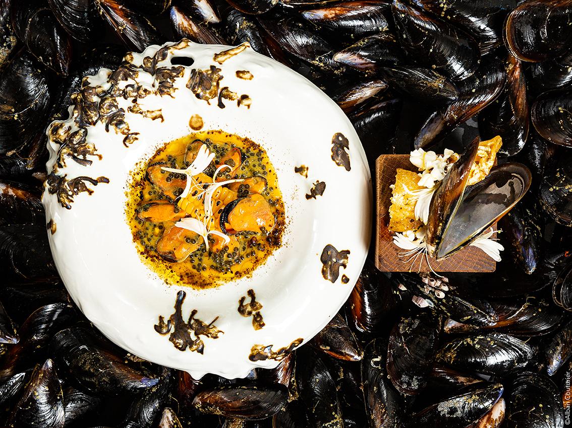 Moule, Mais et Caviar, cheffe Fanny Rey, 1 etoile au guide Michelin, Auberge de Saint Remy de Provence