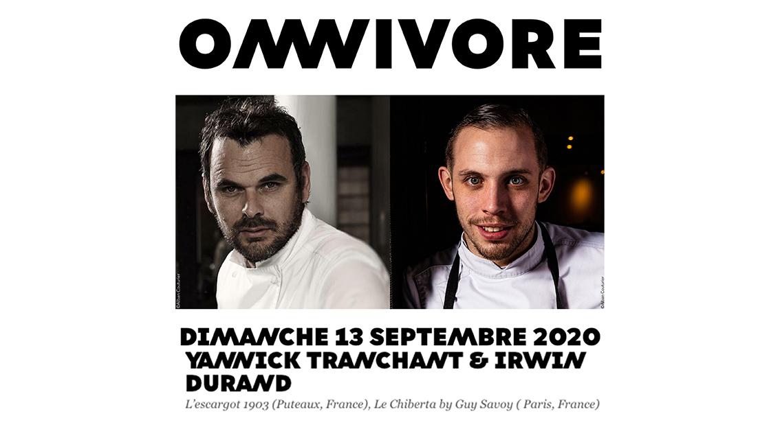 Parution Omnivore 2020 , double portrait Yannick Tranchant & Irwin Durand ©Alban Couturier