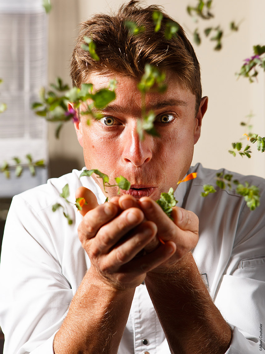 Photo portrait, Jean Sulpice, chef 2 etoiles au Guide Michelin,  Epoque Val Thorens ©Alban Couturier