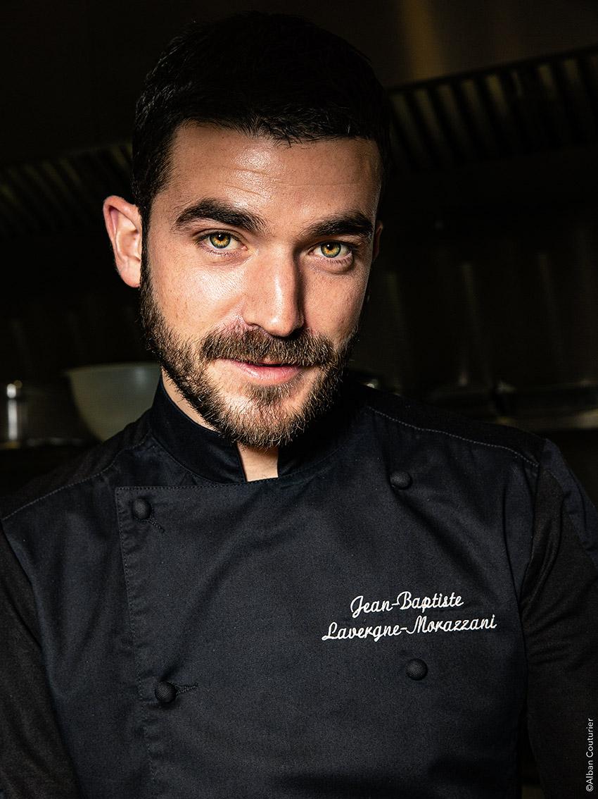 Portrait du chef Proprietaire, Jean Baptiste Lavergne Morazzani, La Table du 11, 1 etoile au guide Michelin, Versailles ©Alban Couturier
