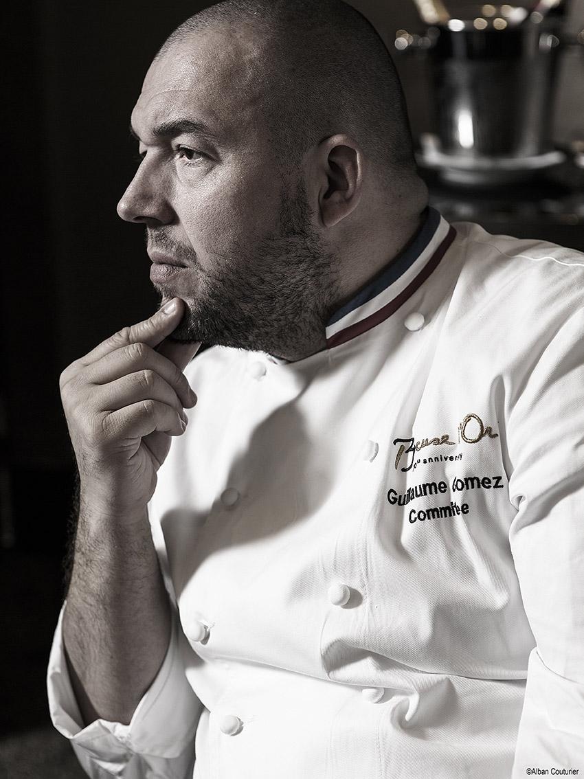 Portrait du chef Guillaume Gomez, chef Executif des cuisines de l'Elysee, M.O.F 2004 ©Alban Couturier