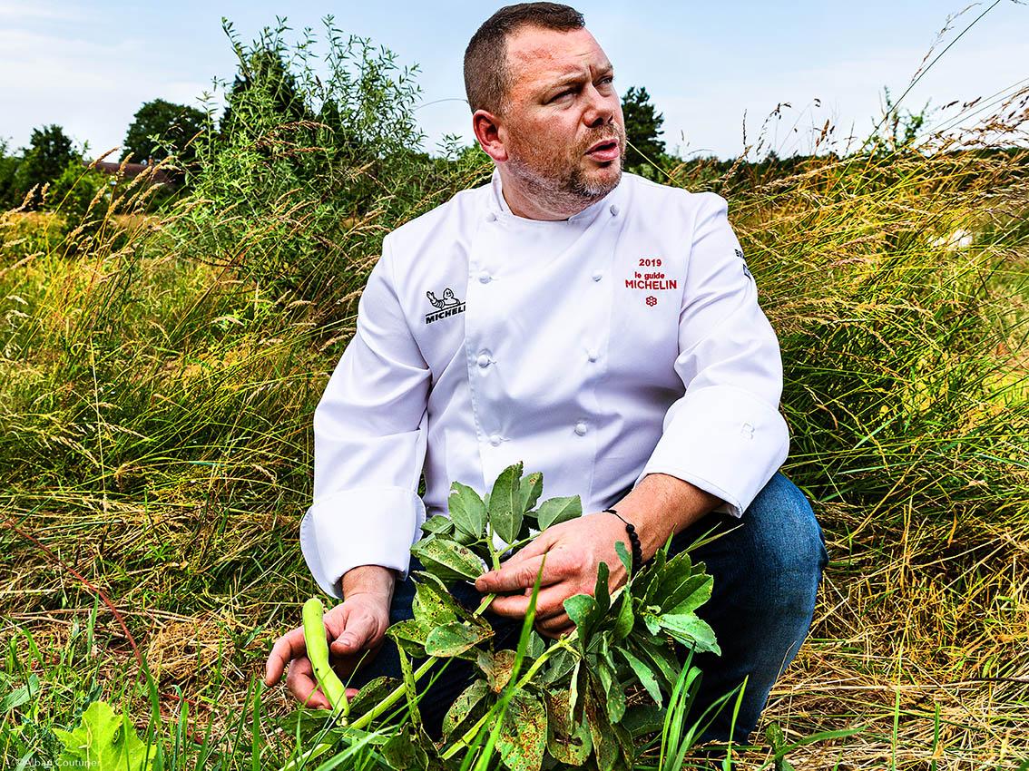 Portrait du chef et ami  Gaetan Evrard, 1 etoile au guide Michelin, restaurant l Evidence, Montbazon ©Alban Couturier