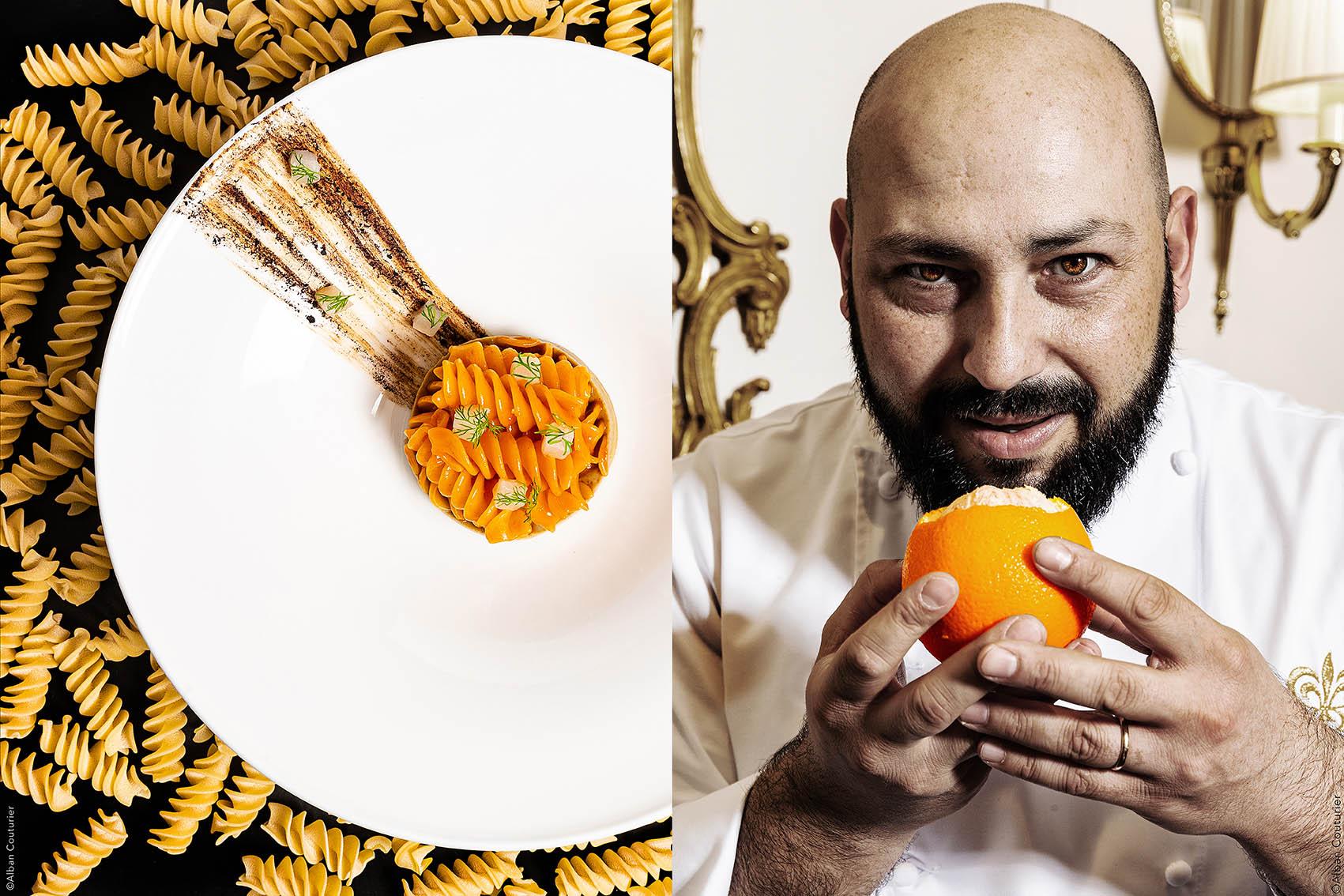 Portrait & recette, Chef Raffaele De Mase, Restaurant Tosca, Paris @Alban Couturier