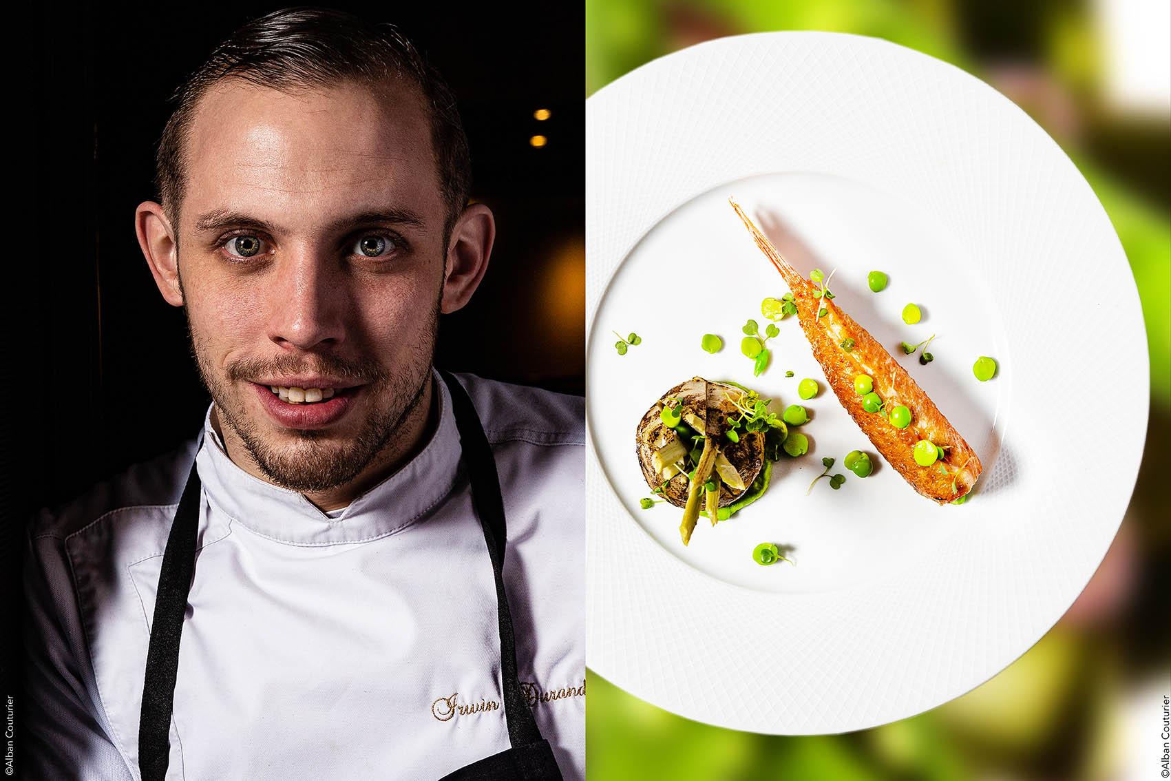Recette et Portrait, chef et ami Irwin Durand, restaurant le chiberta, 1 Etoile au guide Michelin, Paris 8 ©Alban Couturier
