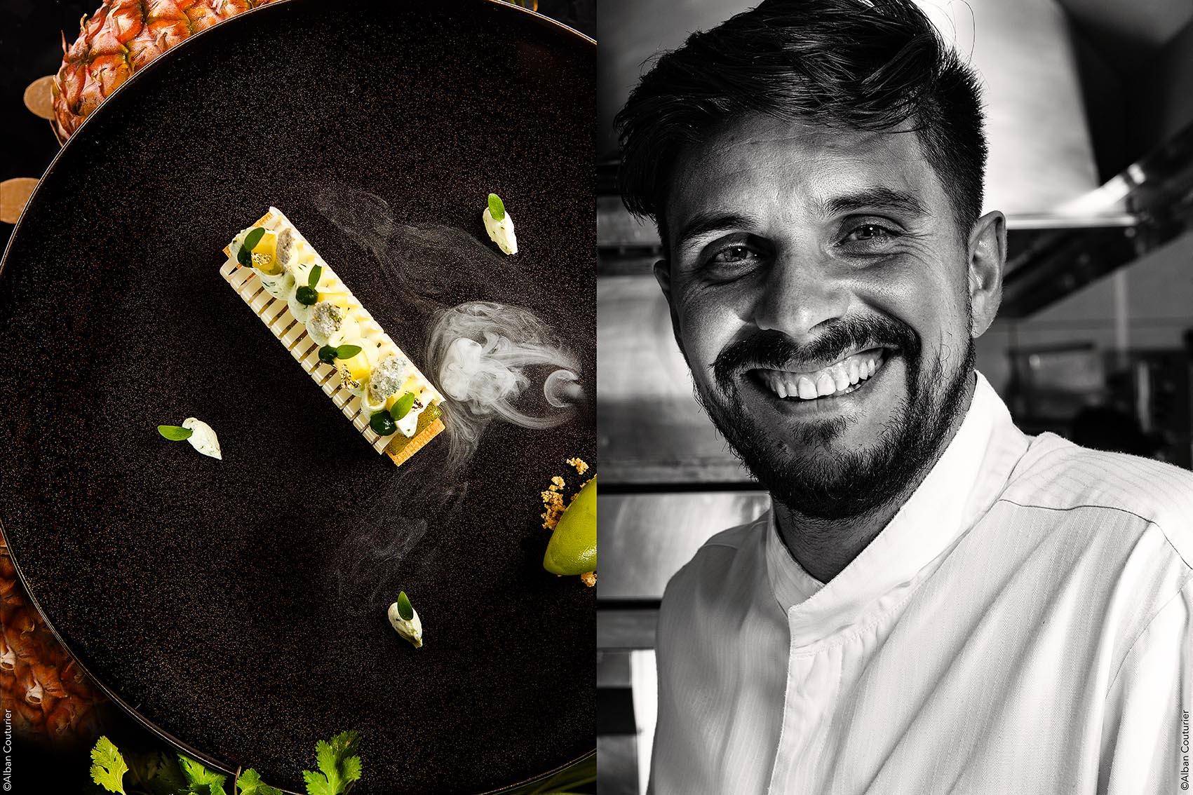 Portrait et recette, chef Patissier et ami, Hugo Correia, epoque Lancaster ©Alban Couturier