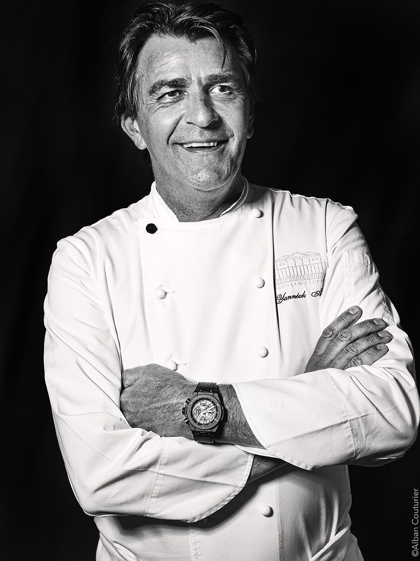 Portrait du chef Yannick Alleno , Pavillon Ledoyen, 3 etoiles au guide rouge©Alban Couturier