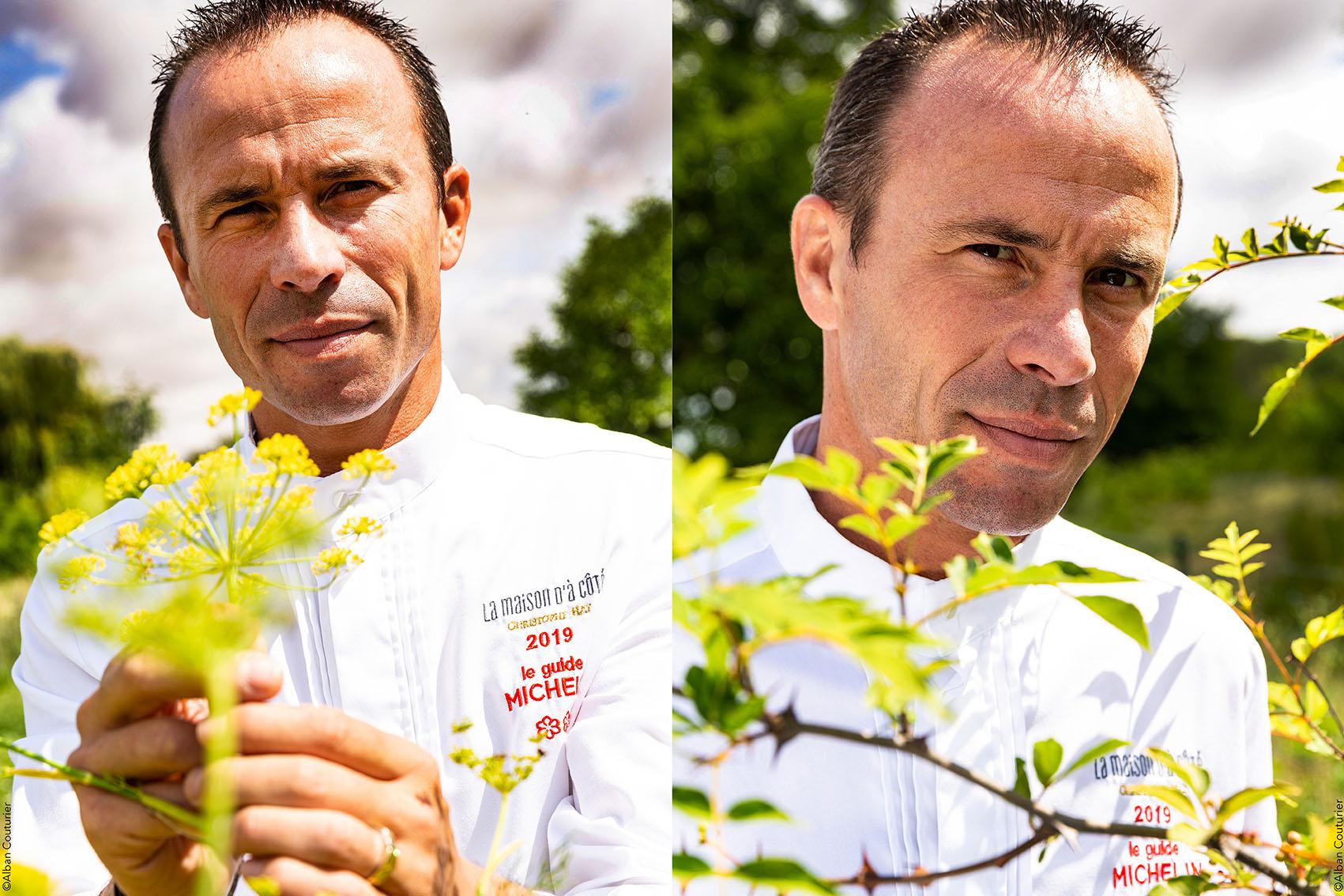 Christophe Hay, chef de l'année 2021, Gault & Millau , La Maison d'à Coté, 2 étoiles au guide Michelin, Montlivault  ©Alban Couturier