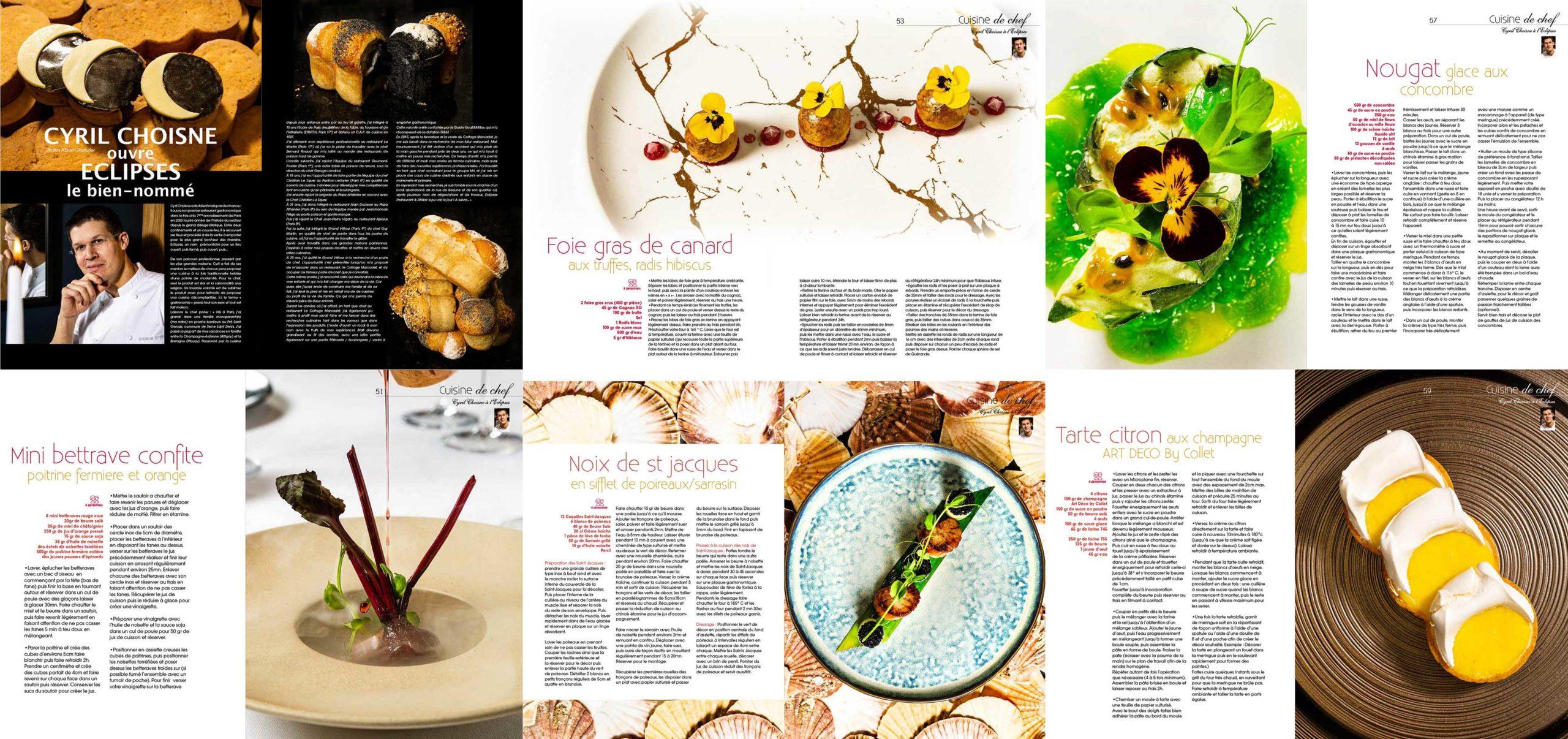 Portrait et recettes, Cuisine A&D n° 64, Chef Cyril Choisne, Restaurant Eclipse, Paris 7, ©Alban Couturier