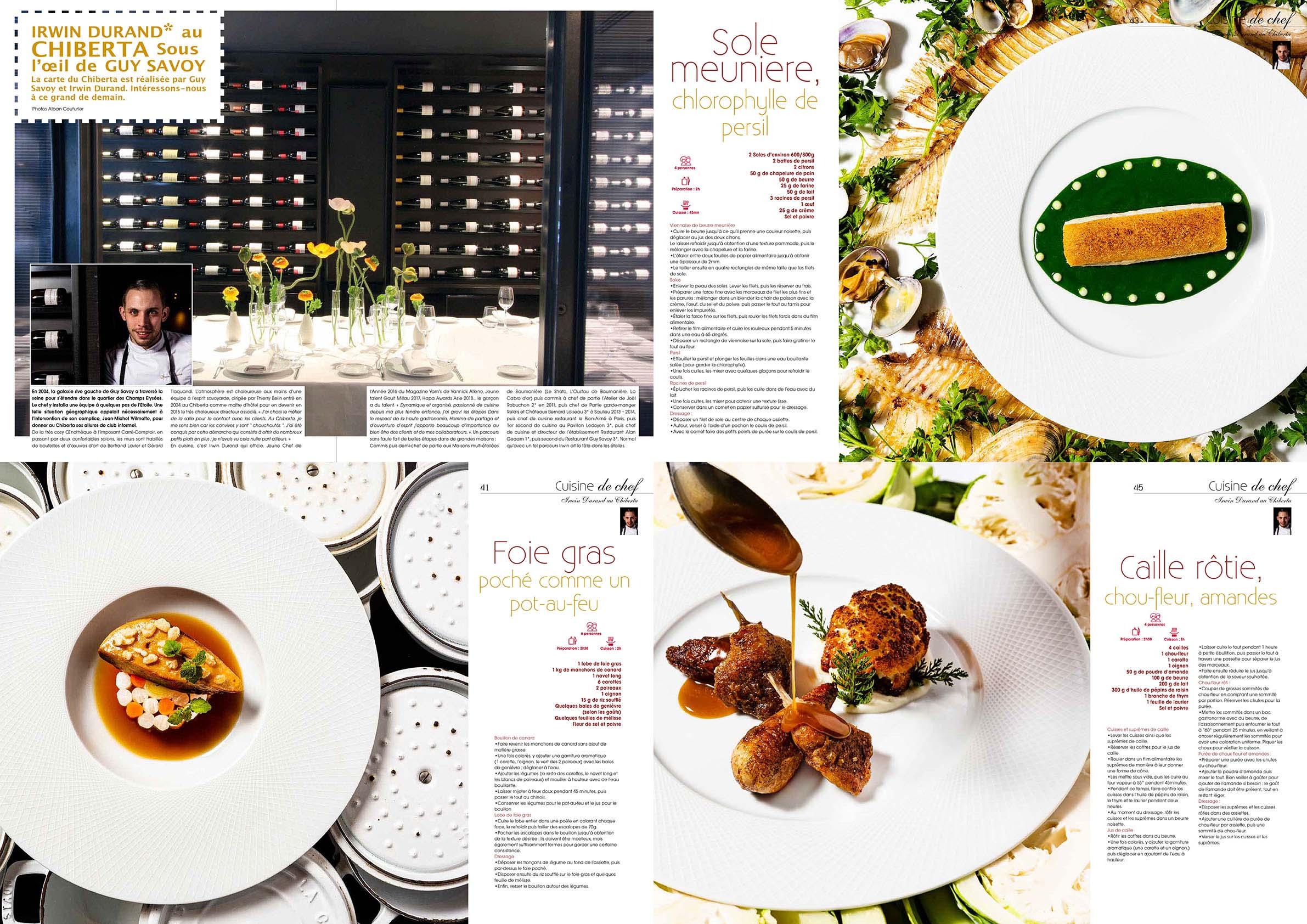 Cuisine A&D, numero 65, printemps 2021, Recettes et portrait, Chef et Ami Irwin Durand, restaurant Le chiberta, 1 etoile au guide Michelin©Alban Couturier