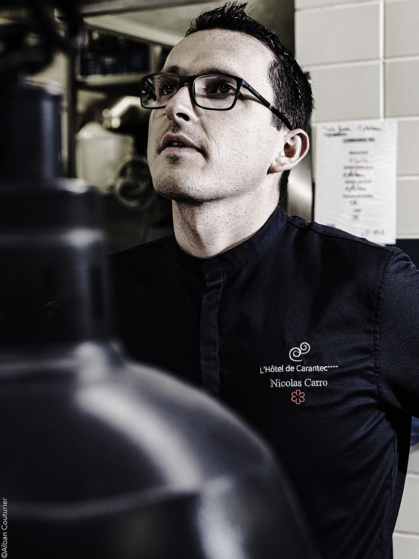Portrait du chef et Ami Nicolas Carro, Hotel de Carantec, 1 etoile au guide Michelin, Bretagne